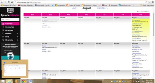 episode calendar