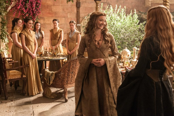 Natalie Dormer as Margaery Tyrell and Lena Headey as Cersei Lannister – photo Helen SloanHBO