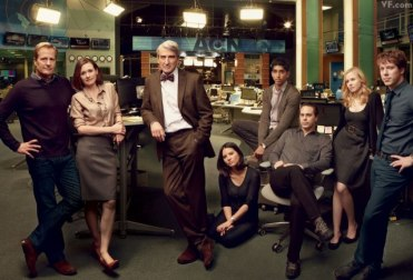 Will McAvoy y su equipo en The Newsroom