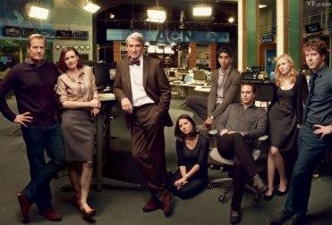 Will McAvoy y su equipo en The Newsroom