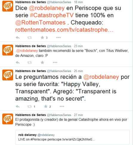 Intercambio twitter Rob Delaney