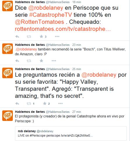 Intercambio twitter Rob Delaney