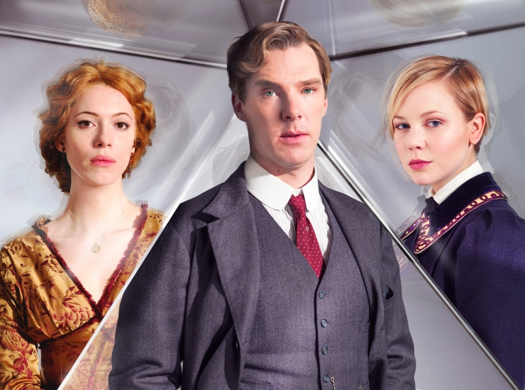 Picture shows: REBECCA HALL as Sylvia, BENEDICT CUMBERBATCH as Christopher and ADELAIDE CLEMENS as Valentine © Mammoth Screen Limited 2012