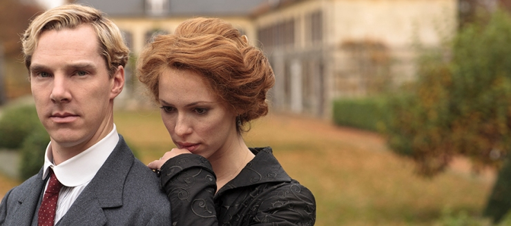 Picture shows: BENEDICT CUMBERBATCH as Christopher and REBECCA HALL as Sylvia © Mammoth Screen Limited 2012