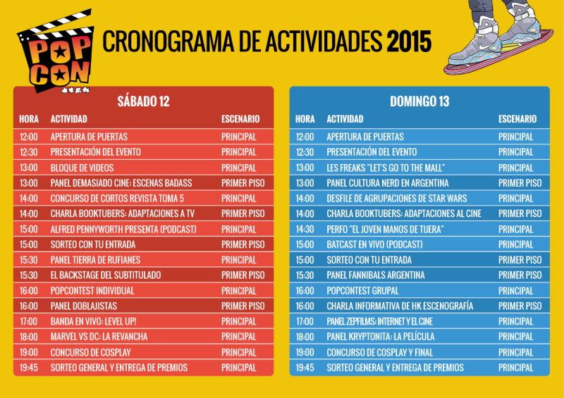 PopCon 2015 actividades