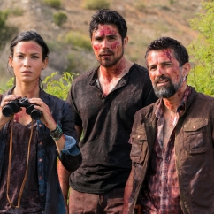 Danay Garcia as Luciana, Alfredo Herrera as Francisco (Scout), Carlos Sequra as Scout - Fear of the Walking Dead _ Season 2, Episode 8 - Photo Credit: Richard Foreman Jr /AMC