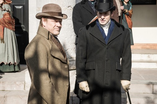 From Rainmark Films The Frankenstein Chronicles: Ep1 on ITV Encore Pictured: In the drama's opening sequences, the Home Secretary Sir Robert Peel, following a successful operation by Thames River Police to apprehend a gang of opium smugglers, recruits Marlott. As he stands on the water's edge contemplating the arrest of the smugglers, Marlott makes a shocking discovery. The body of a dead child is washed up on the shore and on further examination of the corpse he is horrified to discover it's not actually a child but rather a crude assembly of body parts arranged in a grotesque parody of a human form. The mutilated child-like body leaves an indelible impression on Marlott and he finds himself unable to shake off the memory of what has happened that fateful night. This photograph is (C) Rainmark Films and can only be reproduced for editorial purposes directly in connection with the programme or event mentioned above, or ITV plc. Once made available by ITV plc Picture Desk, this photograph can be reproduced once only up until the transmission [TX] date and no reproduction fee will be charged. Any subsequent usage may incur a fee. This photograph must not be manipulated [excluding basic cropping] in a manner which alters the visual appearance of the person photographed deemed detrimental or inappropriate by ITV plc Picture Desk. This photograph must not be syndicated to any other company, publication or website, or permanently archived, without the express written permission of ITV Plc Picture Desk. Full Terms and conditions are available on the website www.itvpictures.com For further information please contact: james.hilder@itv.com / 0207 157 3052