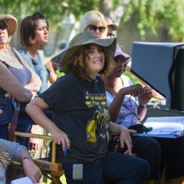 Jill Soloway en el set de Transparent.