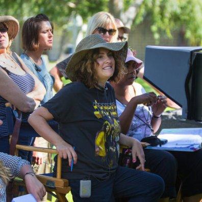 Jill Soloway en el set de Transparent.