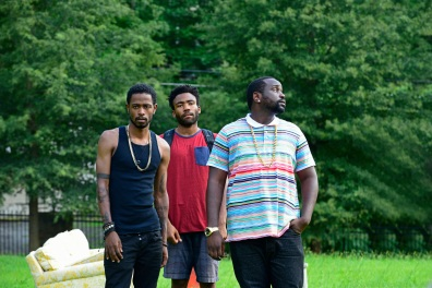 ATLANTA -- ÒThe Big BangÓ -- Episode 101 (Airs Tuesday, September 6, 10:00 pm e/p) Pictured: (l-r) Keith Standfield as Darius, Donald Glover as Earnest Marks, Brian Tyree Henry as Alfred Miles. CR: Guy D'Alema/FX