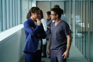 """PURE GENIUS -- """"Pilot"""" -- Pictured: (l-r) Augustus Prew as James Bell, Dermot Mulroney as Dr. Walter Wallace -- (Photo by: Sonja Flemming/CBS/Universal Television)"""