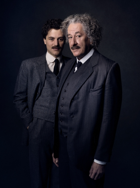 Prague - Geoffrey Rush stars as Albert Einstein in National Geographic's Genius (National Geographic/Marco Grob)