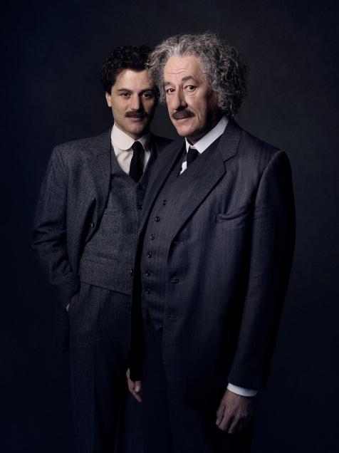 Prague - Geoffrey Rush stars as Albert Einstein in National Geographic's Genius (National Geographic/Marco Grob)
