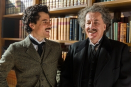Czech Republic - Johnny Flynn and Geoffrey Rush. The Actors star as Albert Einstein in National Geographic's Genius (National Geographic/Dusan Martincek)