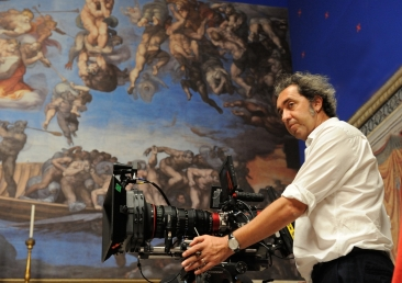 """set of """"The young Pope"""" by Paolo Sorrentino. 09/11/2015 sc.503 - ep 5 in the picture Paolo Sorrentino. Photo by Gianni Fiorito"""
