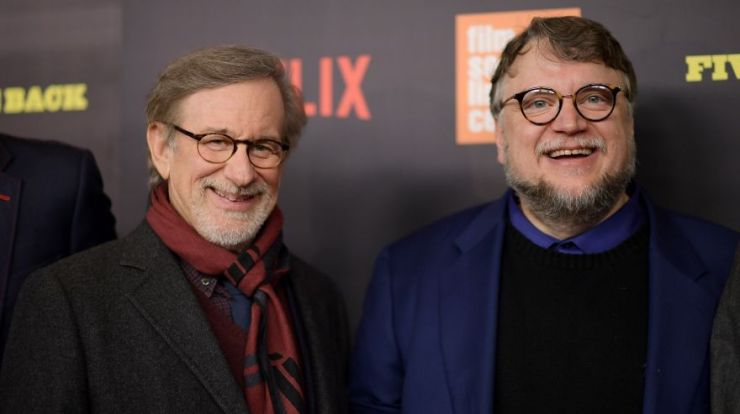 Steven Spielberg Guillermo del Toro Five Came Back Netflix 2017.jpg