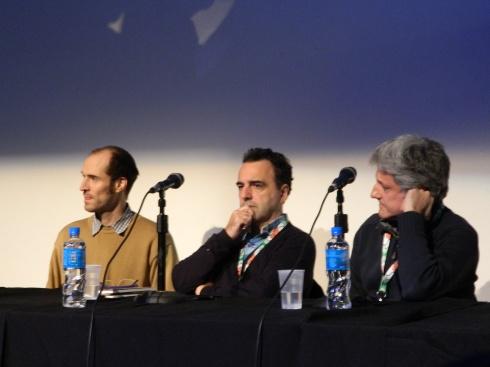 Pablo de Santis, Juan Sáenz Valiente y Gustavo Malajovich, de HBO por las series El Hipnotizador y El Jardín de Bronce