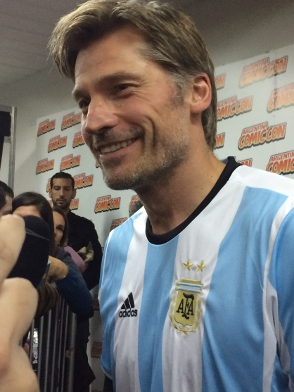 Nikolaj Coster Waldau de Game of Thrones en Argentina Comic-Con 2017. Ph Alejandra Casal - Hablemos de Series