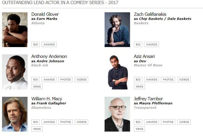 emmy 2017 mejor actor comedia