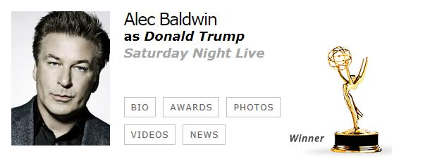 Alec Baldwin Mejor Actor Reparto Comedia EMMYS 2017