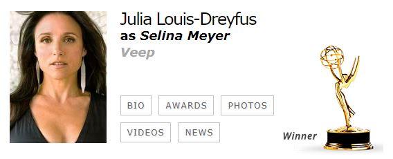 Julia Louis Dreyfus Mejor actriz comedia EMMYS 2017