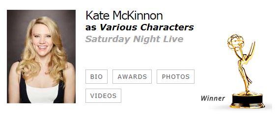 Kate McKinnon Mejor Actriz Reparto Comedia EMMYS 2017