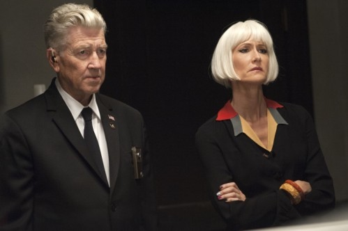 David Lynch y Laura Dern
