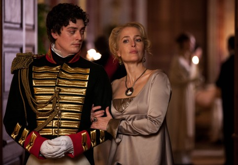 Picture shows: (Boris (ANEURIN BARNARD) and Anna Pavlovna (GILLIAN ANDERSON)