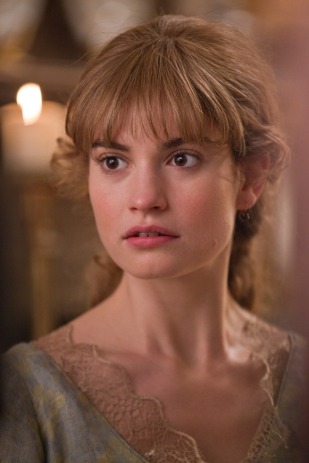Picture shows: Natasha (LILY JAMES)