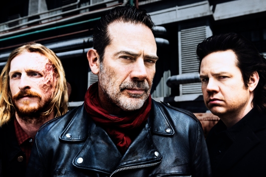 Jeffrey Dean Morgan as Negan, Josh McDermitt as Dr. Eugene Porter, Austin Amelio as Dwight - The Walking Dead _ Season 8, Gallery - Photo Credit: Alan Clarke/AMC