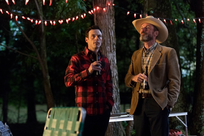 Scoot McNairy as Gordon Clark, Toby Huss as John Bosworth- Halt and Catch Fire _ Season 4, Episode 4 - Photo Credit: Bob Mahoney/AMC