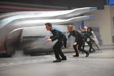 """THE ORVILLE: L-R: Seth MacFarlane, Adrianne Palicki, Penny Johnson Jerald and guest star Brian George in the new space adventure series from the creator of """"Family Guy."""" The first part of the special two-part series premiere of THE ORVILLE will air Sunday, Sept. 10 (8:00-9:00 PM ET/PT), immediately following the NFL ON FOX Doubleheader. ©2017 Fox Broadcasting Co. Cr: Michael Becker/FOX"""