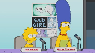 """THE SIMPSONS: Marge and Lisa turn Lisa's sad experience into a successful graphic novel-turned-Broadway show, but they struggle with creative differences and ego in the all-new """"Springfield Splendor"""" episode of THE SIMPSONS airing Sunday, Oct. 8, (8:00-8:30 PM ET/PT) on FOX. THE SIMPSONS ™ and © 2017 TCFFC ALL RIGHTS RESERVED. THE SIMPSONS ™ and © 2017 TCFFC ALL RIGHTS RESERVED."""