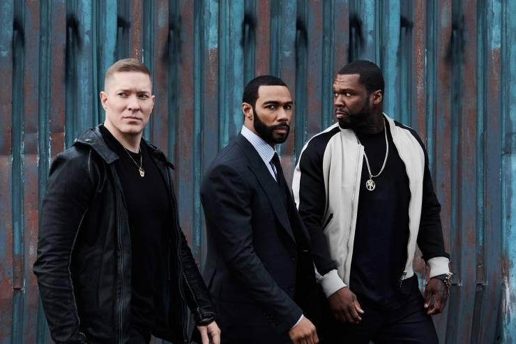 FOX-Premium---POWER-5---Joseph-Sikora-(izq),-Omari-Harwick-(centro)-y-50-Cent-(der)