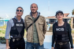 """Monster"" -- After a deadly armed robbery and high-speed chase is connected to an undercover ATF operation, Percy reconnects with her former ATF partner, Jake Roman (L. Steven Taylor), on NCIS: NEW ORLEANS, Tuesday, Jan. 2 (10:00-11:00 PM, ET/PT) on the CBS Television Network. Pictured L-R: Scott Bakula as Special Agent Dwayne Pride, Dylan Kenin as Willard Kurtz, and Vanessa Ferlito as FBI Special Agent Tammy Gregorio Photo: Skip Bolen/CBS ©2017 CBS Broadcasting, Inc. All Rights Reserved"