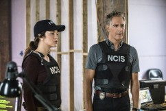 """The Asset"" -- Pride and his team join forces with FBI Director Isler (Derek Webster) after a Russian operative who's in the states to provide intel on sleeper agents, disappears after his Navy escort is murdered. Also, Tammy partners with former sleeper agent Eva Azarova (Cassidy Freeman) to locate the missing operative who Eva has known since childhood, on NCIS: NEW ORLEANS, Tuesday, Oct. 3 (10:00-11:00 PM, ET/PT) on the CBS Television Network. Pictured L-R: Vanessa Ferlito as FBI Special Agent Tammy Gregorio and Scott Bakula as Special Agent Dwayne Pride Photo: Skip Bolen/CBS ©2017 CBS Broadcasting, Inc. All Rights Reserved"